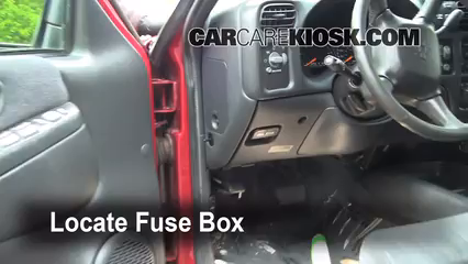 1999 Chevrolet Blazer LS 4.3L V6 (4 Door) Fusible (intérieur)