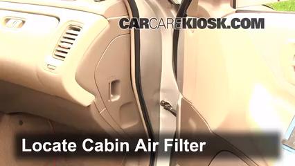 1999 Honda Accord LX 3.0L V6 Sedan (4 Door) Filtre à air (intérieur)
