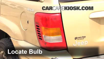 1999 Jeep Grand Cherokee Limited 4.0L 6 Cyl. Luces Luz de reversa (reemplazar foco)