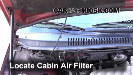 1999 Mercury Sable LS 3.0L V6 Sedan Filtro de aire (interior)