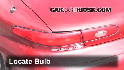 1999 Mercury Sable LS 3.0L V6 Sedan Luces