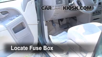 Interior Fuse Box Location: 1999-2002 Nissan Quest - 1999 Nissan Quest GXE  3.3L V6 | 99 Nissan Quest Fuse Diagram |  | CarCareKiosk