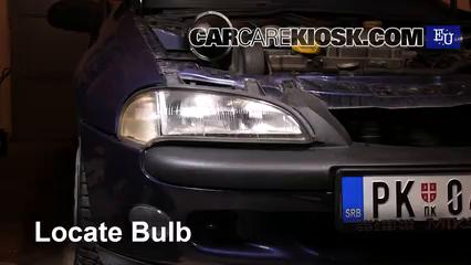 1999 Opel Tigra 1.4i 1.4L 4 Cyl. Luces Luz de carretera (reemplazar foco)