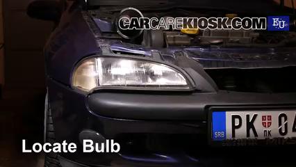 1999 Opel Tigra 1.4i 1.4L 4 Cyl. Luces Luz de giro delantera (reemplazar foco)