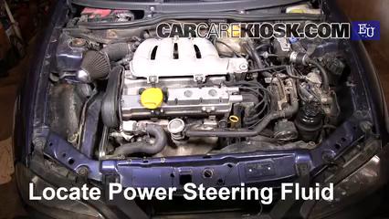 1999 Opel Tigra 1.4i 1.4L 4 Cyl. Líquido de dirección asistida Controlar nivel de líquido