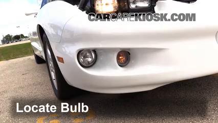 1999 Pontiac Firebird Formula 5.7L V8 Convertible Luces Luz de giro delantera (reemplazar foco)