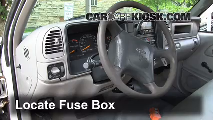 Interior Fuse Box Location: 1990-2000 Chevrolet K3500 - 2000