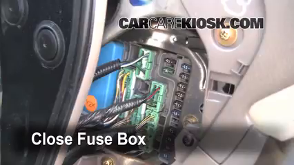 Interior Fuse Box Location 1998 2002 Honda Accord 2000 Honda Accord Ex 2 3l 4 Cyl Sedan 4 Door