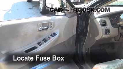 interior fuse box location 1998 2002 honda accord 2000 honda Circuit Breaker locate interior fuse box and remove cover