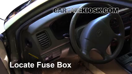 interior fuse box location: 1999-2001 hyundai sonata