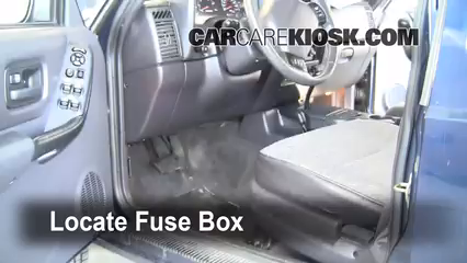 Interior Fuse Box Location: 1997-2001 Jeep Cherokee - 2000 Jeep Cherokee  Sport 4.0L 6 Cyl. (4 Door)CarCareKiosk