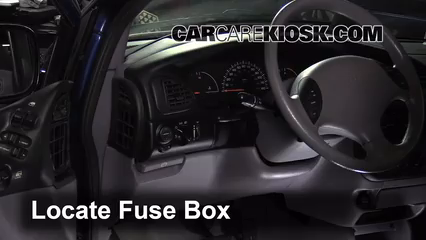 interior fuse box location: 1996-2000 chrysler town and country