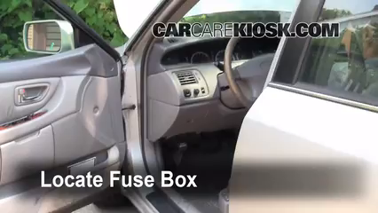 interior fuse box location: 1995-1999 toyota avalon