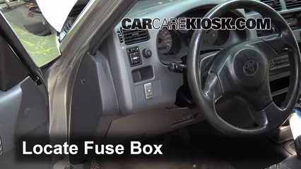 interior fuse box location: 1996-2000 toyota rav4