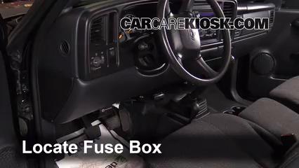 2000 Chevrolet Silverado 1500 4.3L V6 Standard Cab Pickup (2 Door) Fusible (intérieur)
