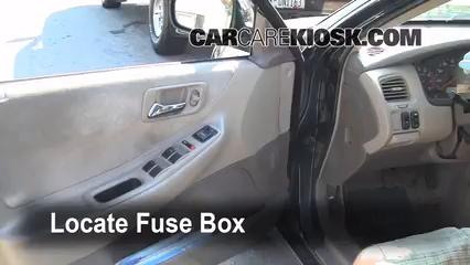 Interior Fuse Box Location: 1998-2002 Honda Accord - 2000 Honda Accord EX  2.3L 4 Cyl. Sedan (4 Door) | 99 Honda Accord Fuse Box |  | CarCareKiosk