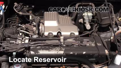 2000 Honda CR-V EX 2.0L 4 Cyl. Líquido limpiaparabrisas Controlar nivel de líquido