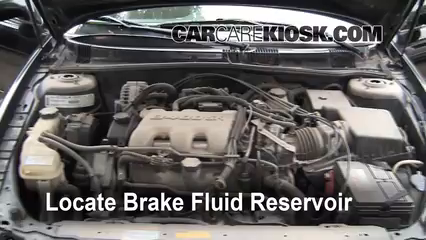2000 Oldsmobile Alero GL 3.4L V6 Sedan (4 Door) Brake Fluid Add Fluid