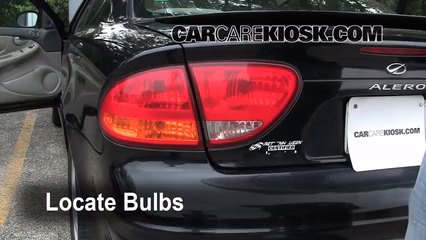 2000 Oldsmobile Alero GL 3.4L V6 Sedan (4 Door) Lights Tail Light (replace bulb)