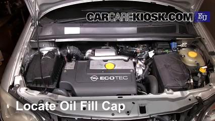 2000 Opel Zafira DTI Life 2.0L 4 Cyl. Turbo Diesel Aceite