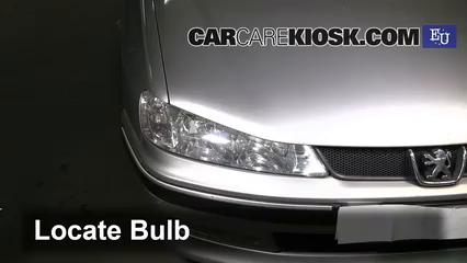 2000 Peugeot 406 LX HDi 2.0L 4 Cyl. Turbo Diesel Luces Luz de carretera (reemplazar foco)