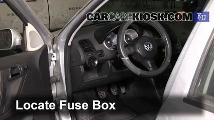 Interior Fuse Box Location: 1994-2001 Volkswagen Polo - 2000 Volkswagen Polo  1.0L 4 Cyl.CarCareKiosk