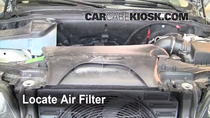 2001 BMW X5 3.0i 3.0L 6 Cyl. Air Filter (Engine) Replace