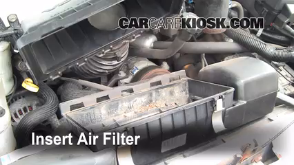 Air filter how to 1990 2005 chevrolet astro 2001 for Chevy express cabin air filter location