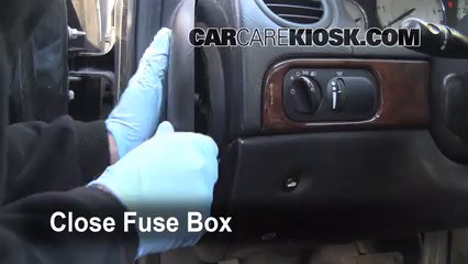 Interior fuse box location 1999 2001 chrysler lhs 2001 for 2002 chrysler town and country power window problems