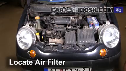 2001 Daewoo Matiz SE 0.8L 3 Cyl. Air Filter (Engine)