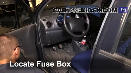 Interior Fuse Box Location 1998 2005 Daewoo Matiz 2001 Daewoo