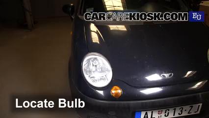 2001 daewoo matiz se 0 8l 3 cyl  lights daytime running light (replace bulb