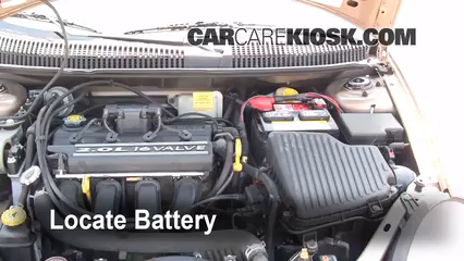 2001 Dodge Neon 2.0L 4 Cyl.%2FBattery Locate Part 1 battery replacement 2000 2005 dodge neon 2001 dodge neon 2 0l 4  at honlapkeszites.co