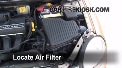 2001 Dodge Neon 2.0L 4 Cyl. Air Filter (Engine) Check