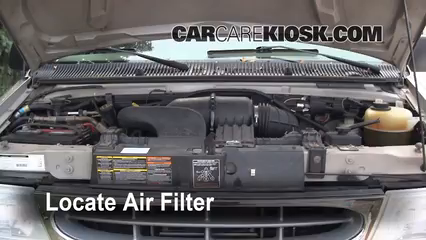 air filter how to 1990 2007 ford e 150 econoline club. Black Bedroom Furniture Sets. Home Design Ideas
