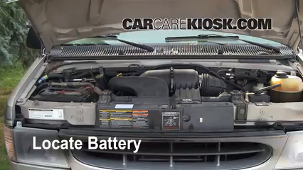 Battery Replacement: 1990-2007 Ford E-150 Econoline Club Wagon ... on