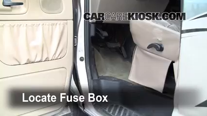 interior fuse box location: 1990-2007 ford e-150 econoline club wagon