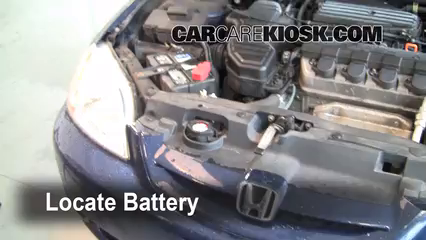 2001 Honda Civic EX 1.7L 4 Cyl. Coupe (2 Door) Battery Clean