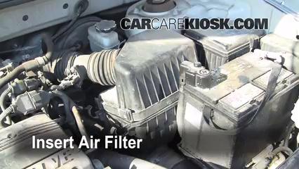 how to change engine air filter hyundai elantra 2007