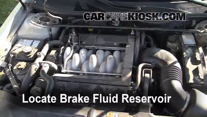 2001 Lincoln Continental 4.6L V8 Brake Fluid Add Fluid
