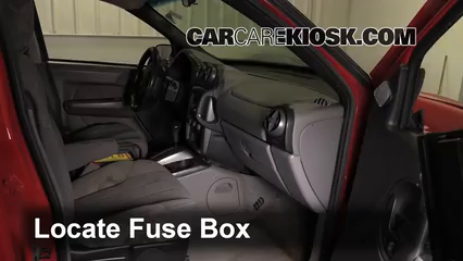 interior fuse box location 2001 2005 pontiac aztek 2003