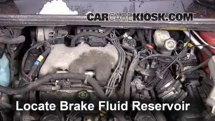 2001 Pontiac Aztek 3.4L V6 Brake Fluid Check Fluid Level