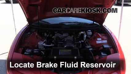 2001 Pontiac Firebird 3.8L V6 Convertible Brake Fluid