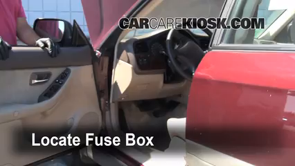 Interior Fuse Box Location: 2000-2004 Subaru Outback - 2001 Subaru
