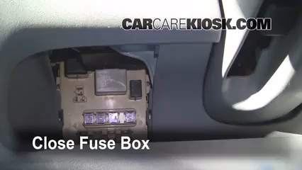 interior fuse box location 2000 2005 toyota echo 2001. Black Bedroom Furniture Sets. Home Design Ideas
