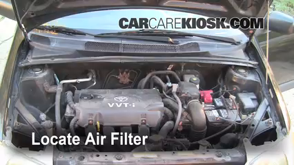 air filter how to 2000 2005 toyota echo 2001 toyota. Black Bedroom Furniture Sets. Home Design Ideas
