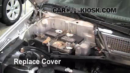 battery replacement 2001 2005 toyota rav4 2001 toyota rav4 2 0l 4replace cover ensure the cover is put back properly