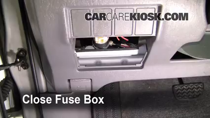 interior fuse box location: 2001-2005 toyota rav4 - 2001 toyota rav4 2 0l 4  cyl
