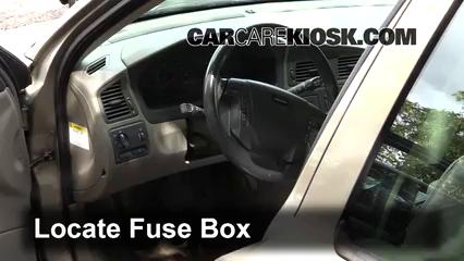 interior fuse box location 2001 2007 volvo v70 2001. Black Bedroom Furniture Sets. Home Design Ideas