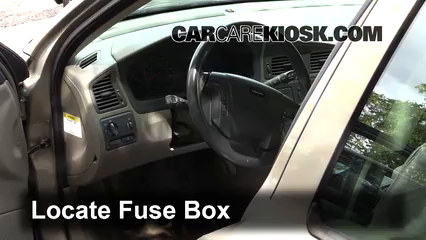 interior fuse box location 2001 2007 volvo v70 2001. Black Bedroom Furniture Sets. Home Design Ideas
